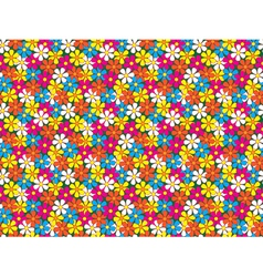 seamless pattern made of flowers vector image vector image