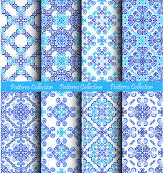 weave patterns blue backgrounds vector image vector image