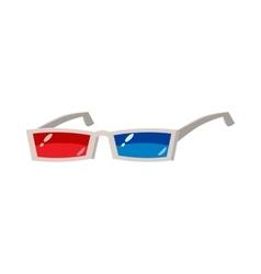 3D glasses icon cartoon style vector