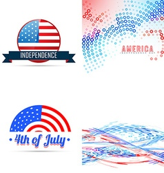 4th of july american independence day background vector
