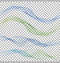 abstract blue wave on a transparent background in vector image