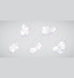bath foam with bubbles vector image