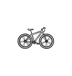 bicycle hand drawn outline doodle icon vector image