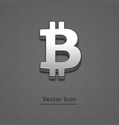 bitcoin trendy 3d style icon vector image