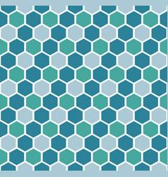 blue hexagon geometric pattern vector image