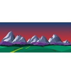 Cartoon nature seamless horizontal landscape vector