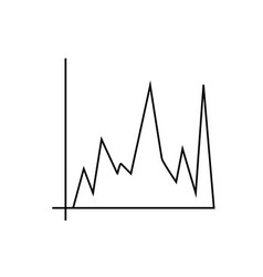 Chart bar icon vector