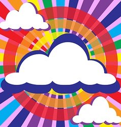 Clouds and rays solar circles vector