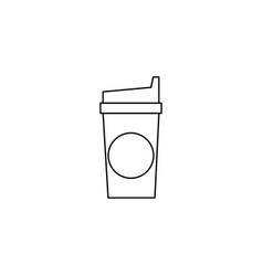 Cofee line icon vector