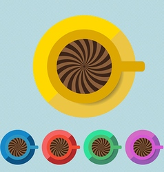 Coffee Cup Flat Color vector