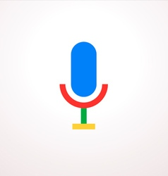 Colorful Microphone Icon vector