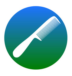 comb simple sign white icon in bluish vector image