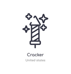 Cracker outline icon isolated line from united vector