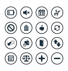 crisis icons universal set vector image