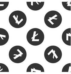 cryptocurrency coin litecoin ltc seamless pattern vector image
