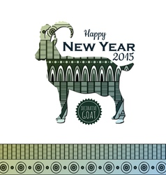 Decorative backgroun with goat New Year 2015 vector