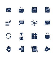 different simple universal icons for sites apps vector image