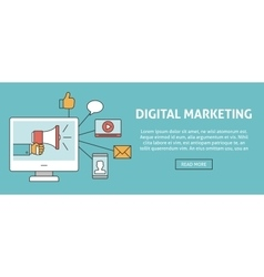 Digital marketing concept banner vector image