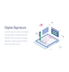 Digital signature vector
