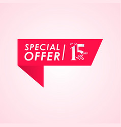 Discount special offer up to 15 off label vector