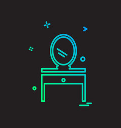 dressing table icon design vector image