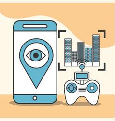 drone technology futuristic vector image