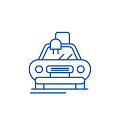 electric automatic car line icon concept electric vector image