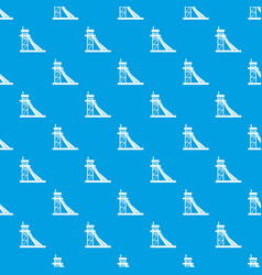 Equipment for washing rocks pattern seamless blue vector