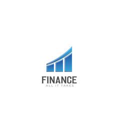 finance bar graph up logo vector image