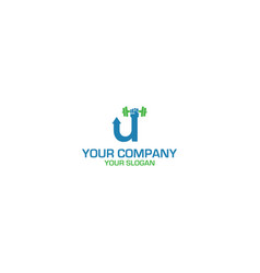 fitness up logo design vector image
