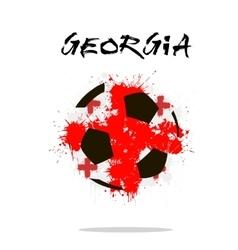 Flag of Georgia as an abstract soccer ball vector