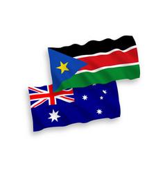 Flags australia and republic south sudan on vector