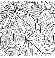 floral leaf seamless pattern leaves background vector image