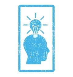 Genius bulb icon rubber stamp vector