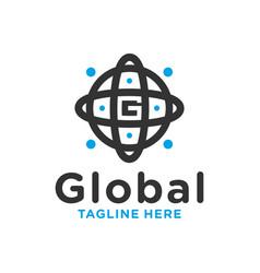global circle technology modern logo vector image