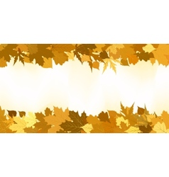Golden autumn border made from leaves eps 8 vector