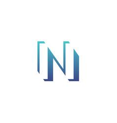 gradient letter n logo vector image