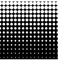 Halftone pattern circles and dots vertical rows vector