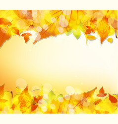 hello autumn thanksgiving leaves background vector image