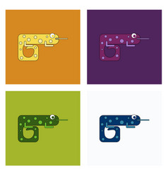 Icon chameleon flat symbol chameleon chameleon vector