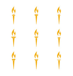 Icon torch vector