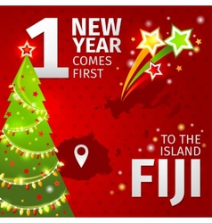 Infographic New Year is coming first on the island vector image