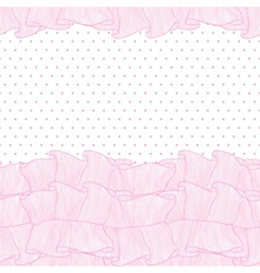 Lace frills seamless pattern vector