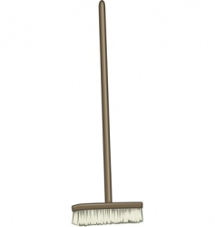 large broom vector image