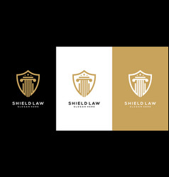 Law firm shield logo design vector