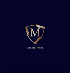 Letter m alphabetic logo design template isolated vector