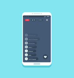 Live video stream on phone online videos stories vector