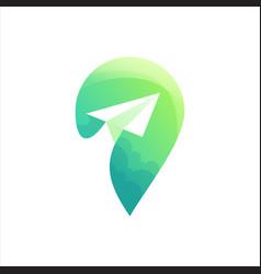 Location logo design vector