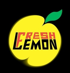 Logo fresh lemon with leave vector