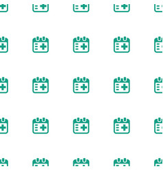 medical appointment icon pattern seamless white vector image